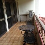 Balcony adjoining Dining Room and Lounge
