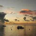 another beautiful sunset with moored dive boats
