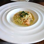 Pasta with trout: entree dish