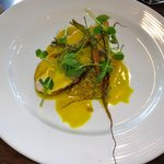 Milawa chicken in a curry emulsion