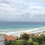 Blick auf die Bucht vom Appartement Heuss