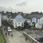 The Black Boy Inn from the town walls