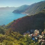 From the top of the mountain overlooking Manarola