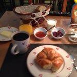 Breakfast was delicious.