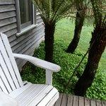 Back deck RiverBank cottage