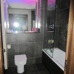 bathroom with funky mood lighting