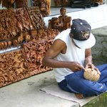 woodcarvings while you wait (quicker to buy one from stock)