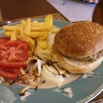 Lunch - DIY burger and fries