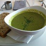 Asparagus, Pea and Mint Soup.