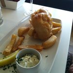 Fish and (not enough) chips.