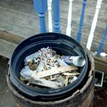 Deck dustbin with deicer can, not been icy for some time!!!