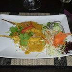 The satay chicken starter