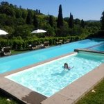 amazing pool and tuscan view