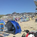A beautiful day at fistral enjoyed by many.