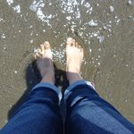 澄んでいる海の水