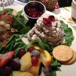 Salad Trio - Signature chicken salad, fruit salad and delicious spinach salad
