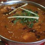 Close up of Chicken Madras.