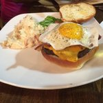 Burger with egg!