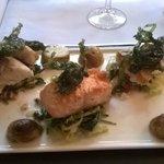 Salmon, hake and sea bass
