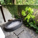 Zona de baño de la villa