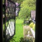 from inside the castle to rear garden
