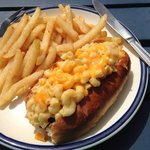 A yummy Mac&Cheese Dog!