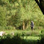 en action sur l'un des 11 étangs
