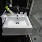 Detalhe do banheiro - kit de amenidades.