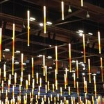 "Molten steel ""lights"" hang in the casino!"