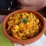 Espécie de risoto de frutos do mar