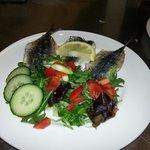 Roasted Cornish sardines with lemon, rosemary and sea salt