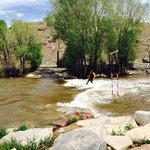 """Arkansas river """"surfing"""""""
