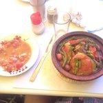 Tajine et salade du menu Tajine à 45 Dh
