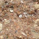 Chunks of landfill