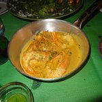 Prawn with Jack Daniels and cream sauce. A must try !