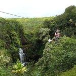 Ziplining Akaka Falls on the Big Island, HI