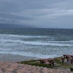 Vista do deck do restaurante Lookout para a imensidão do Oceano