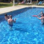 buenos ratos en la piscina