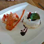 Omelette Norvégienne e tEclair fraise basilic