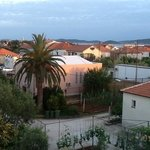from an upstairs window looking toward Zadar