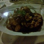 capon with mushrooms