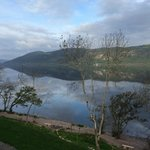 Morning view of Loch Ness from the room balcony, facing SW.