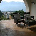 Balcony at the villa