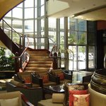 The hotel foyer staircase