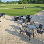 Mansion outdoor seating area