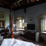Bedroom with medieval casements