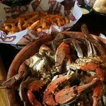Crab fries and crabs