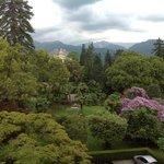 Garden view from corner balcony