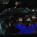 piscina visto da janela do quarto