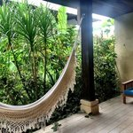 The hammock on the lanai